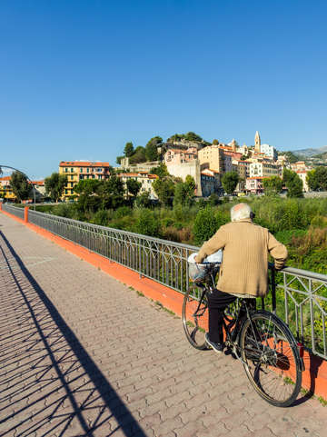 Ventimiglia man on bike