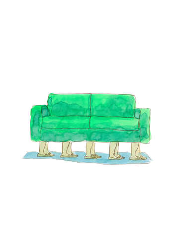 Couch with legs