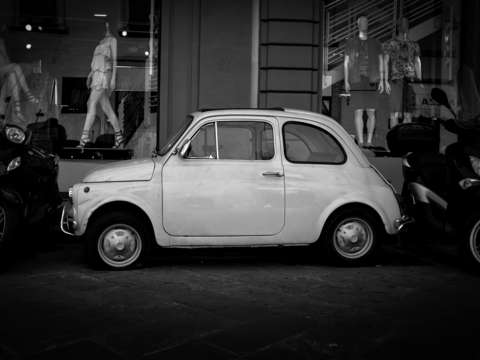 Vintage fiat 500 florence italy