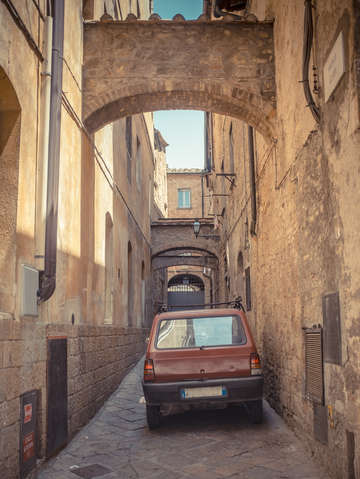 The streets of volterra italy