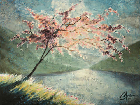 Cherry Blossom by the Lake