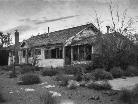Death valley abandoned house
