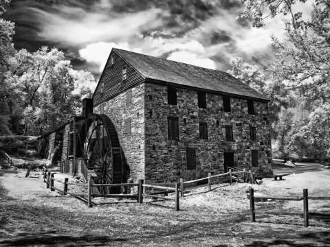 The rock run mill bw infrared