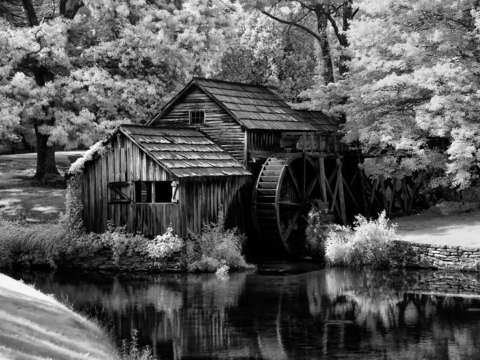 Mabry mill bw infrared