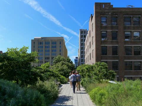 Strolling down the highline chelsea nyc