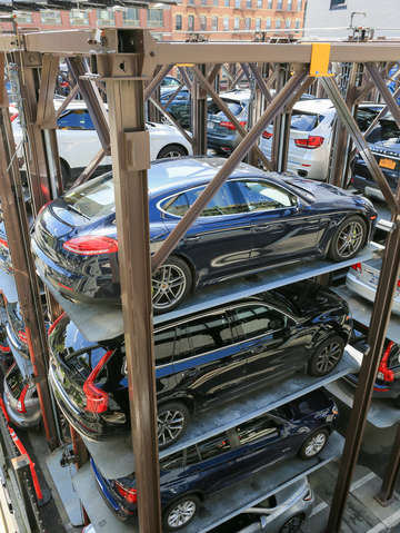 A stack of cars chelsea nyc