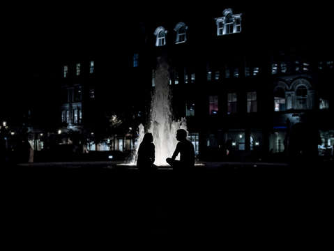 Night time at the fountain no 4