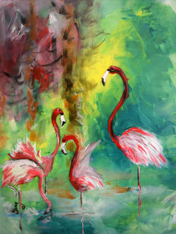 Original flamingo dancers