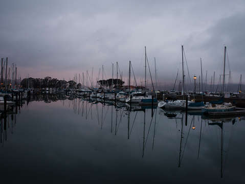San francisco marina sunrise
