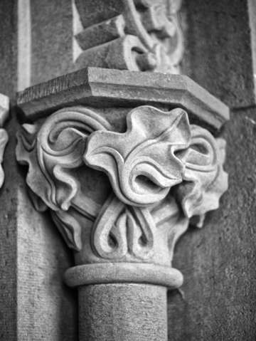 Smithsonian architectural ivy column detail