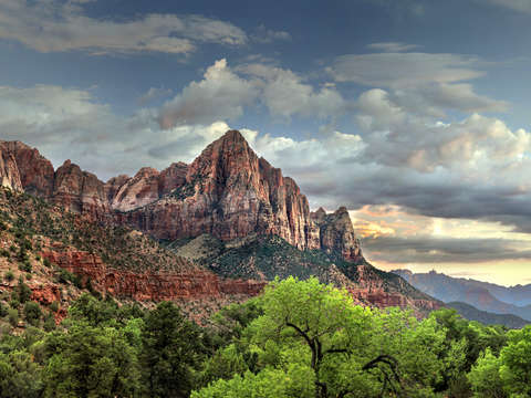 Zion at sundown