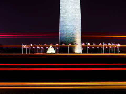 Washington monument at night ii
