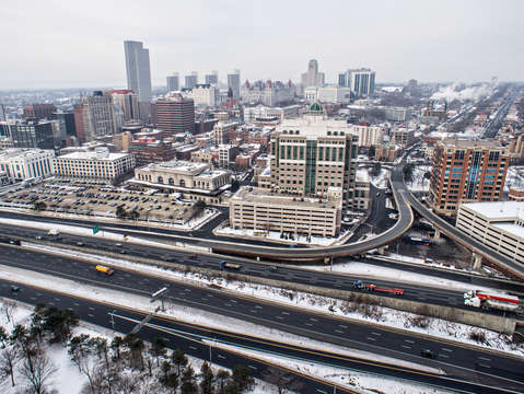 Downtown albany aerial
