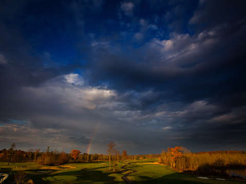 Saratoga national golf course and rainbow