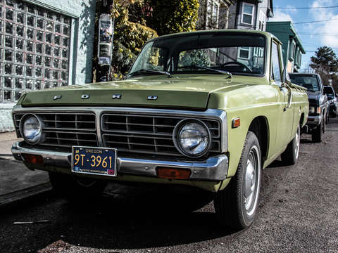 Pea green ford