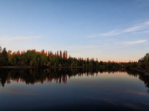 Fairbanks sunrise chena river