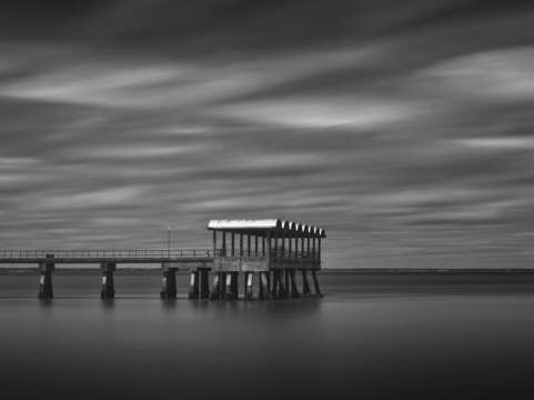 Pier and clouds