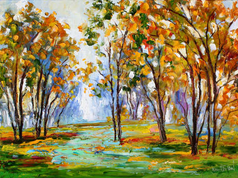 Autumn reverence landscape by karen tarlton