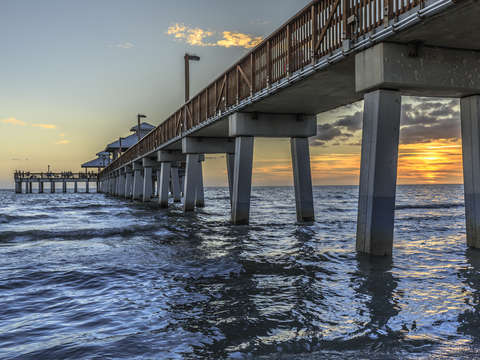 Sunset fort myers fishing pier florida