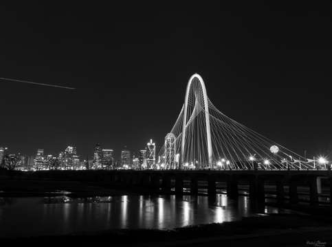 Dallas skyline hunt grayscale