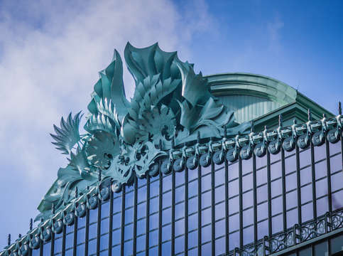 Harold washington library detail