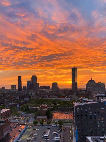 Boston sunset 3