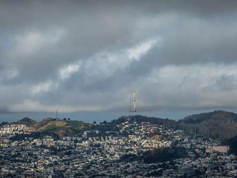 Twin peaks and sutro tower