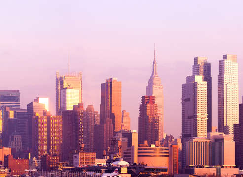 Wide panoramic of new york city