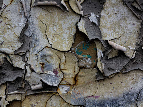 Cracked and peeling paint