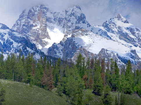 Tetons panorama digital painting