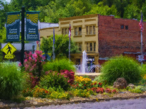 Hot springs roundabout painterly