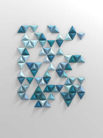 Blue triangles