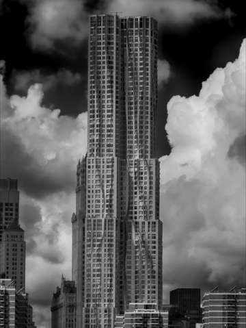 Frank gehry high rise lower manhattan and older ar