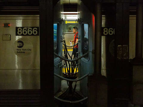 In between the subway cars nyc