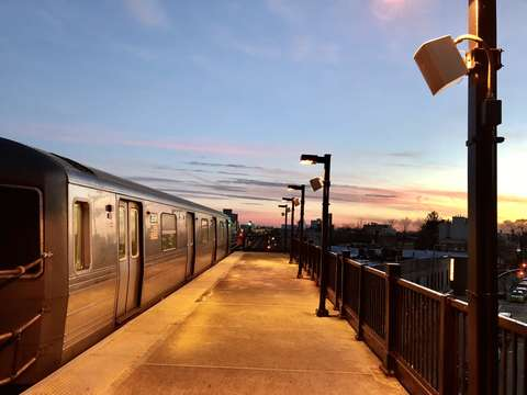 Subway in the sunset brooklyn new york