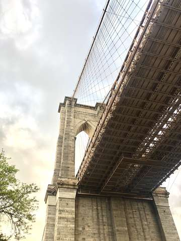 Under the brooklyn bridge new york