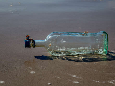 Bottle at sea