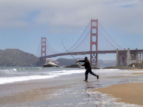Golden gate fisherman