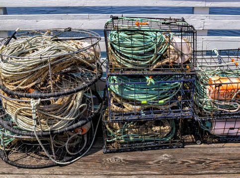 Crab pots in color