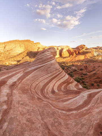 Strawberry cheesecake swirls valley of fire