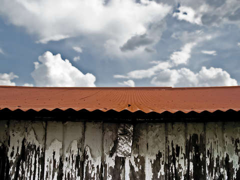 Red rusted roof