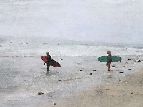 Surfers in the beach 2