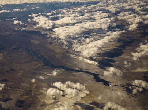 Aerial shapes over new mexico