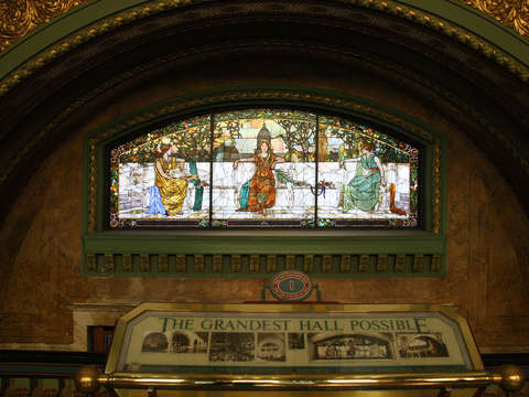 Allegorical window at saint louis union station