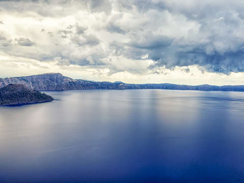 Heavens above crater lake blue