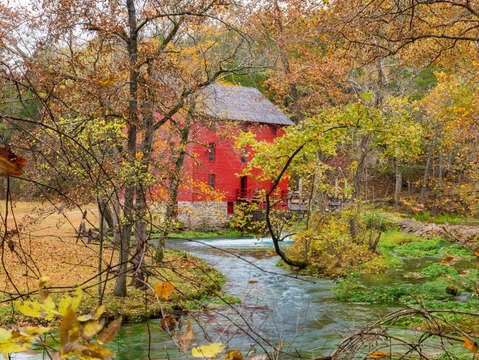 Autumn at alley mill