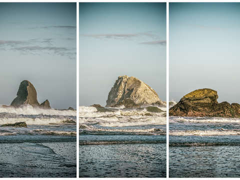 Stacks rocks triptych