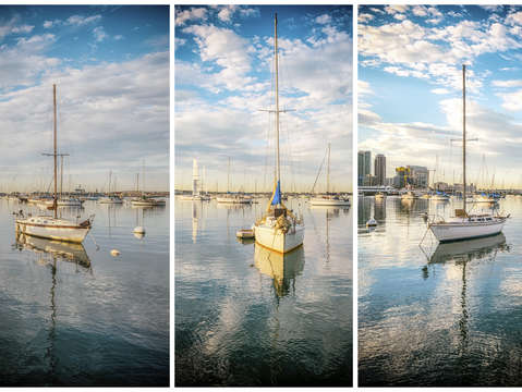 Floating on the clouds triptych