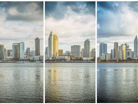Three skylines triptych
