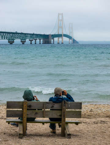 Viewing mackinac bridge